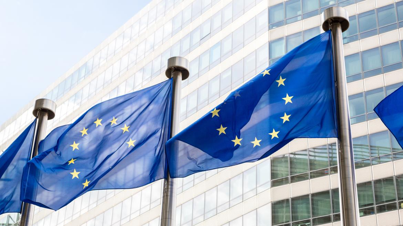 Una foto de la bandera de Europa