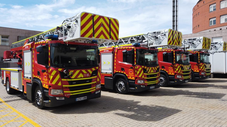 Nuevos vehículos autoescalera para los bomberos de la Comunidad de Madrid