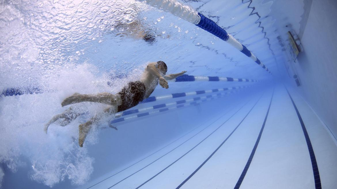 Nadador en competición