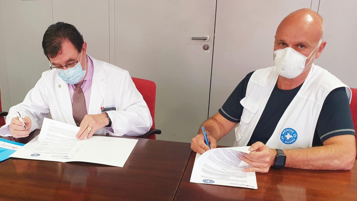 El Hospital Severo Ochoa y Médicos del Mundo colaboran juntos en la desescalada