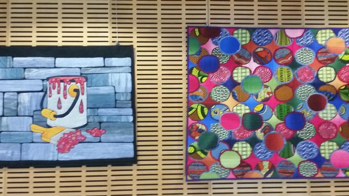Dos de las obras expuestas en MirARTE
