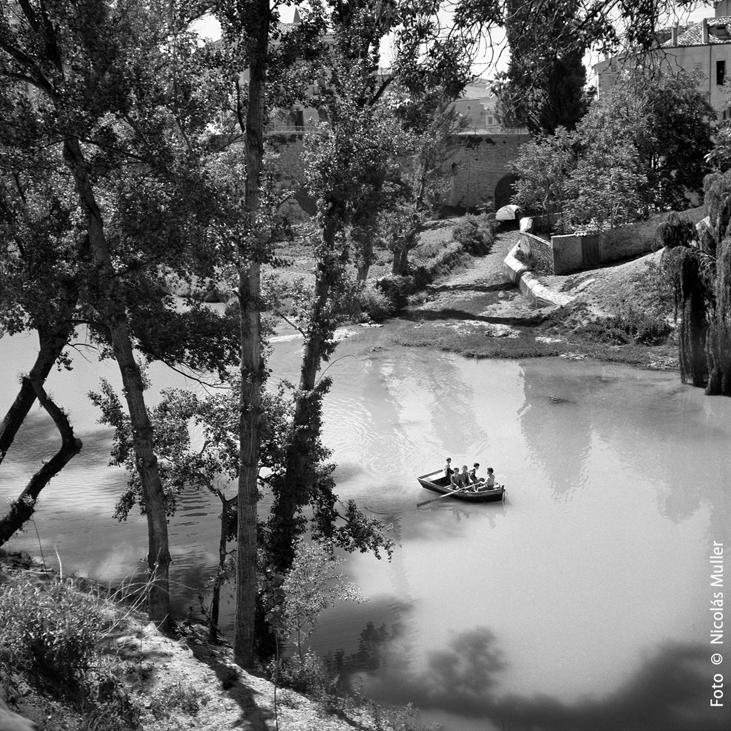 El río Huécar Cuenca Circa 1952