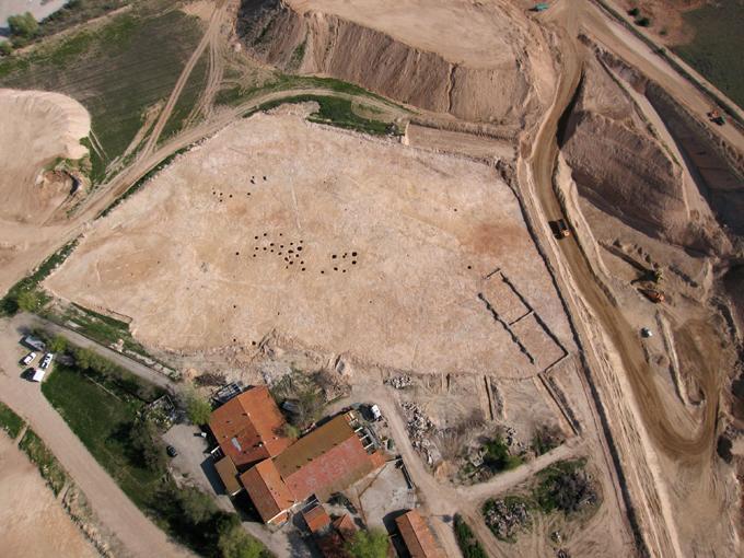 Imagen de vista aérea del yacimiento