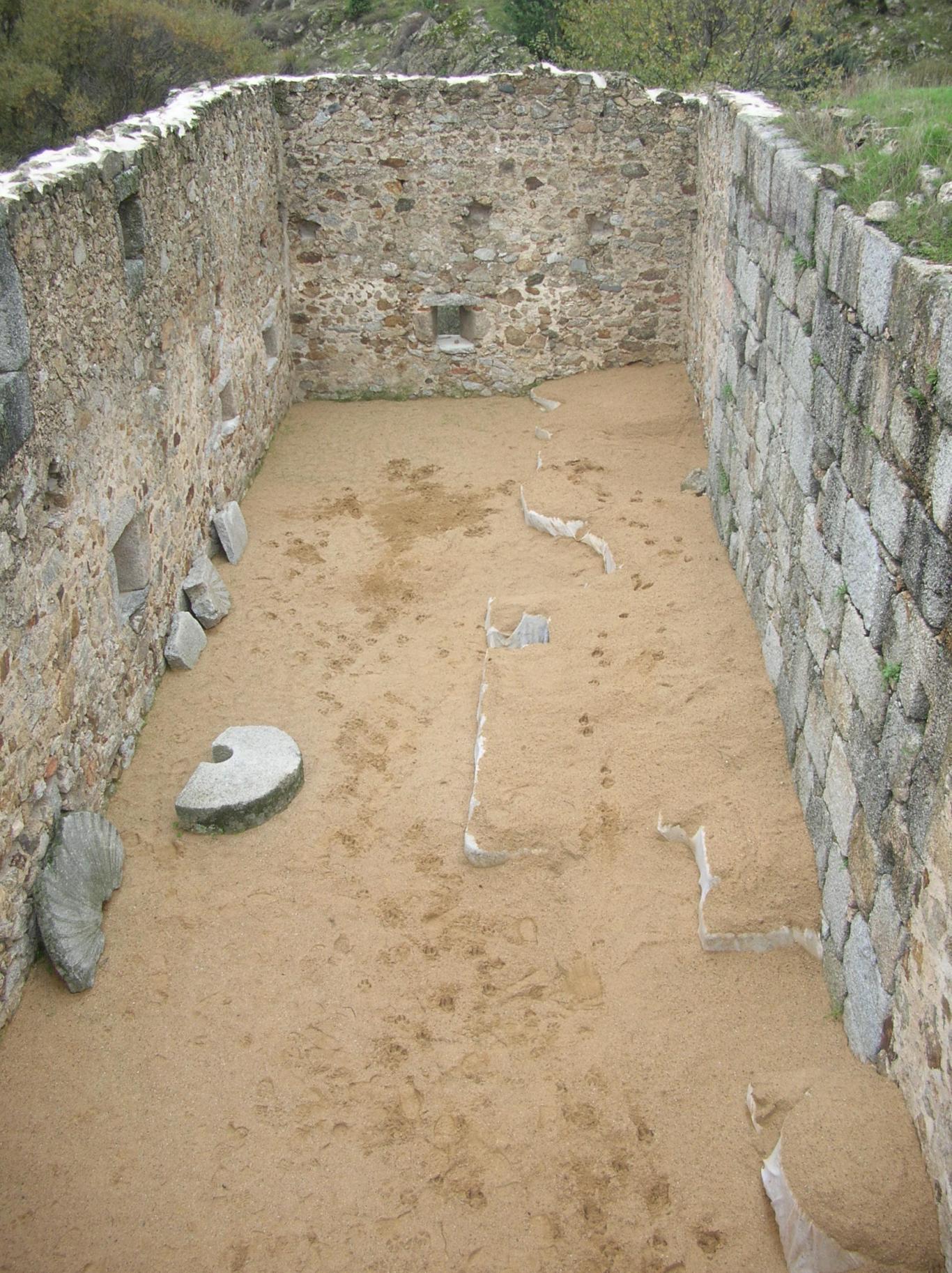 Imagen de Sala del molino tras la excavación arqueológica
