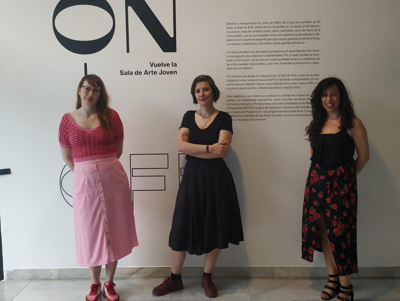 Foto de grupo de Patricia Rajenstein, Ana Cebrián y Emma Trinidad