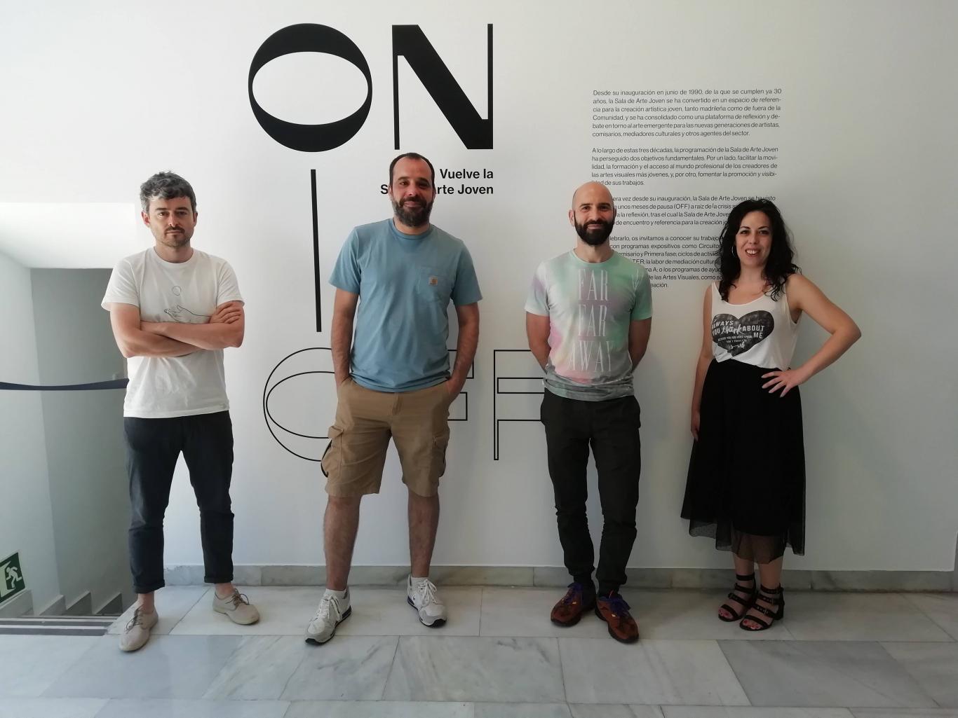 Foto de grupo de Carlos Mayordomo , Xián Rodríguez, Guillermo Mora y  Emma Trinidad.