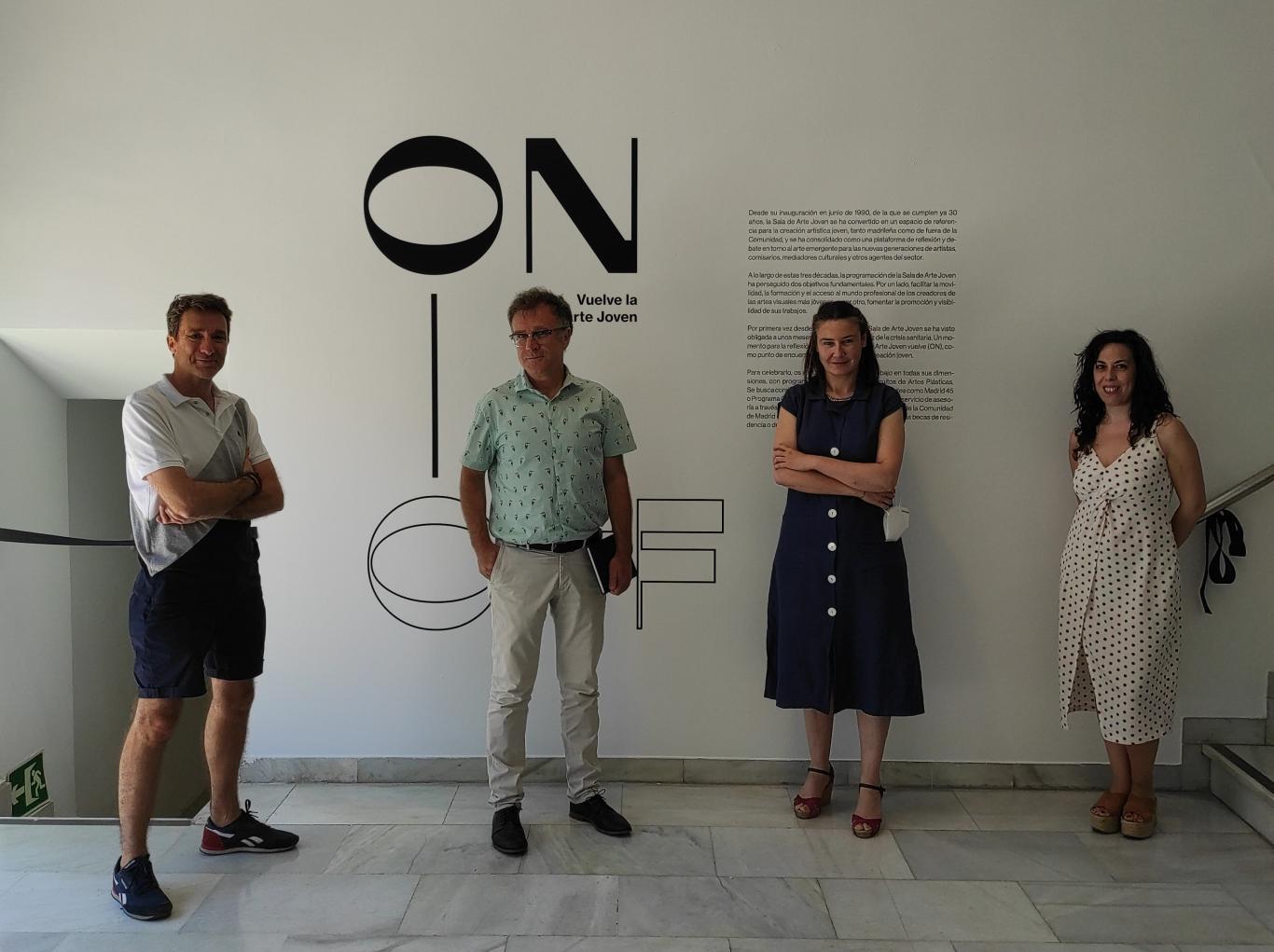 Foto de grupo de Cristina Lucas, Mateo Maté, Óscar Alonso Molina y Emma Trinidad.