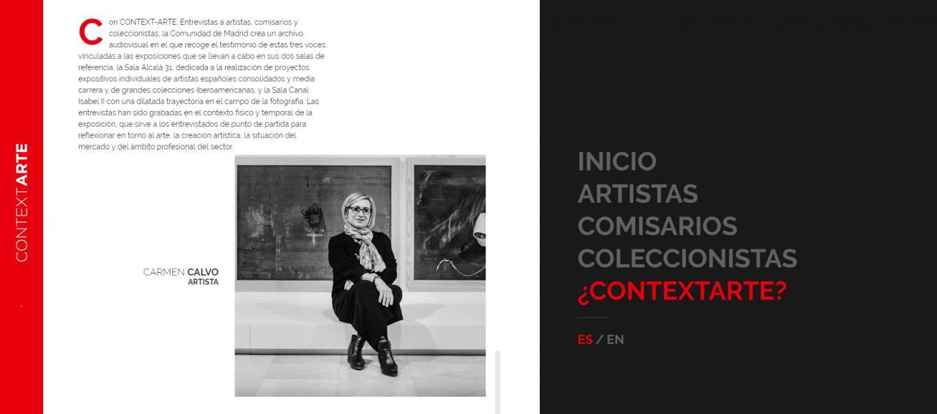 Banner con pantallazo del a web Context-arte