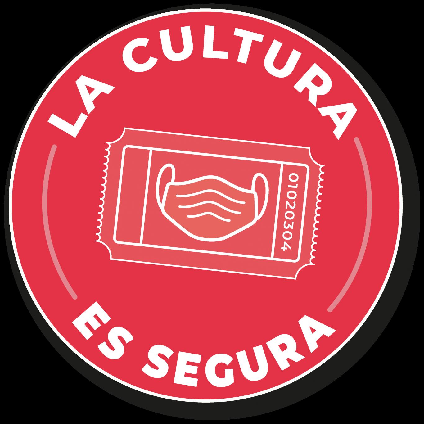 Logo en rojo de la Cultura es Segura