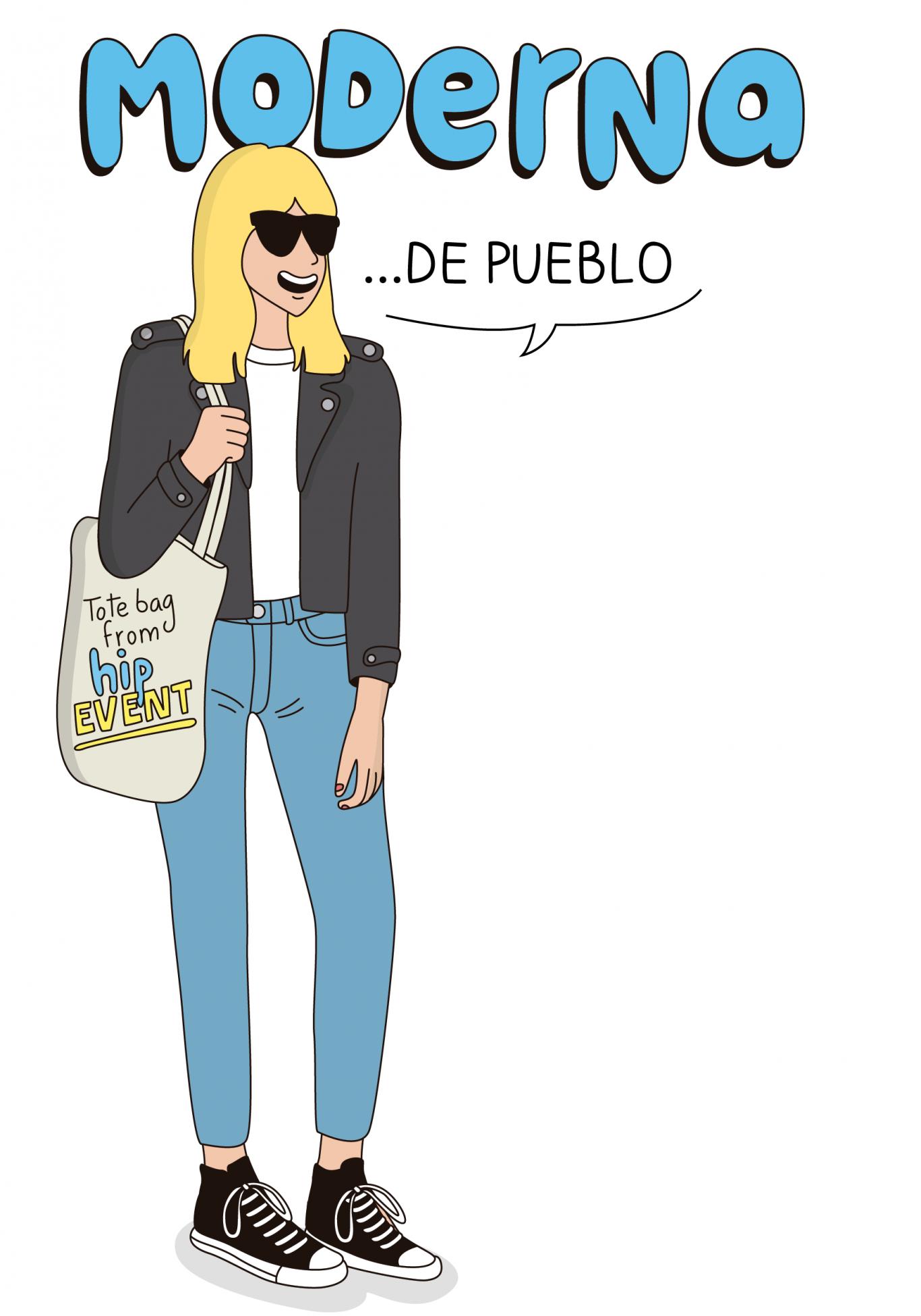 Ilustración de moderna de pueblo