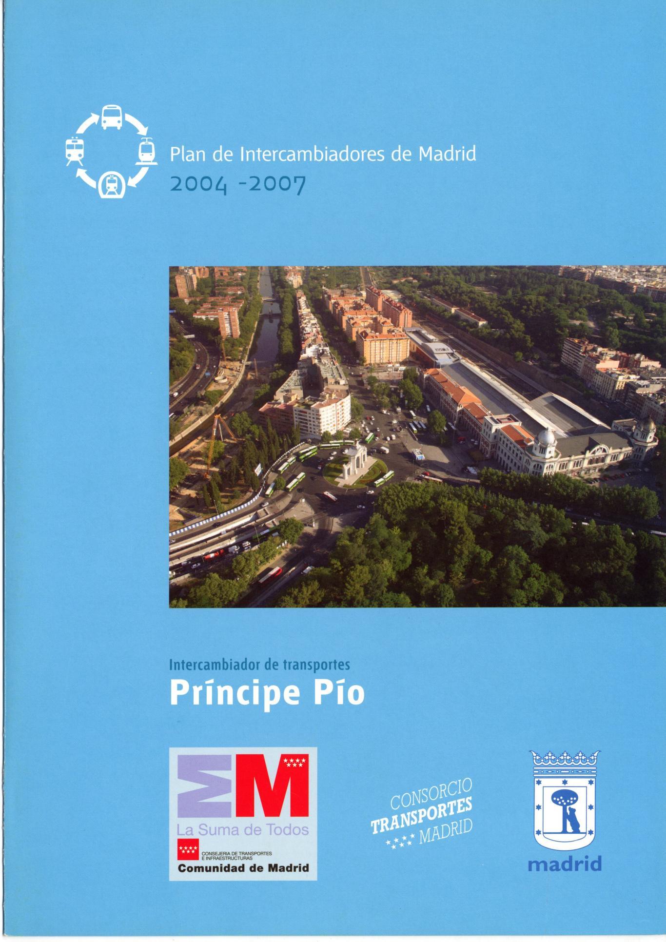 Portada folleto intercambiador Príncipe Pío