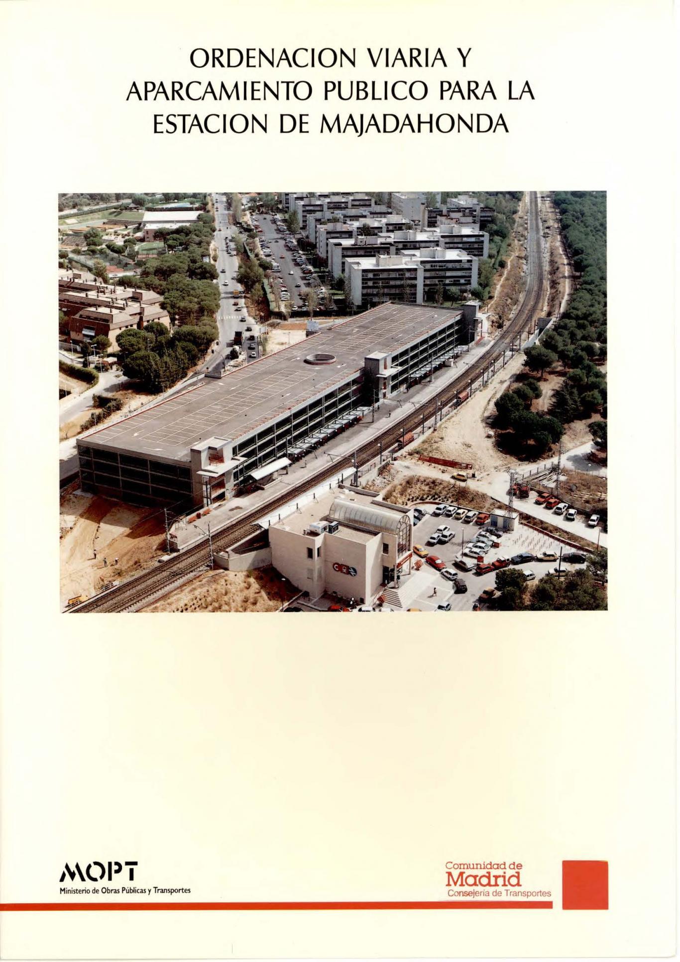 Carátula folleto aparcamiento Majadahonda