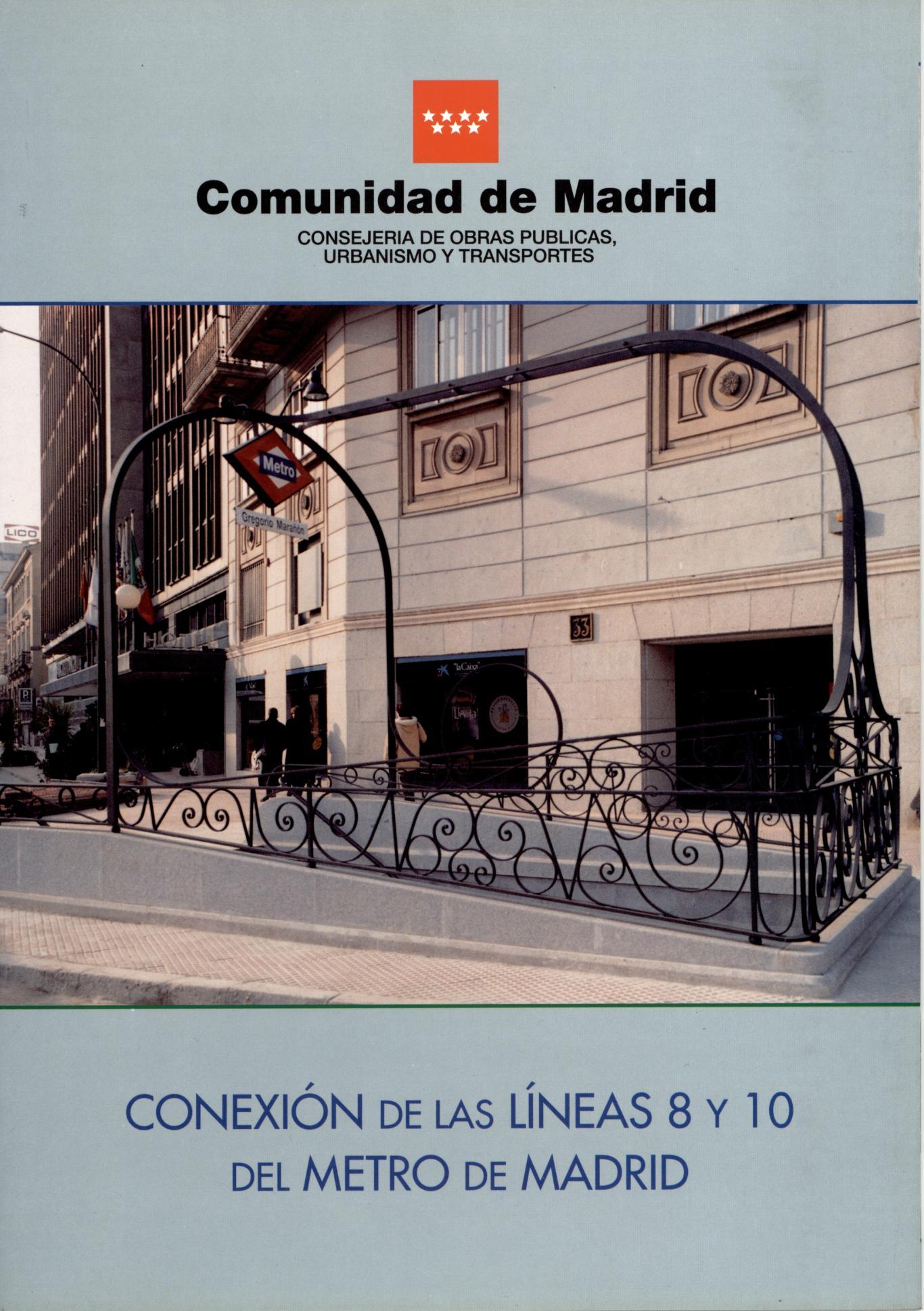 Carátula folleto conexión líneas 8 y 10