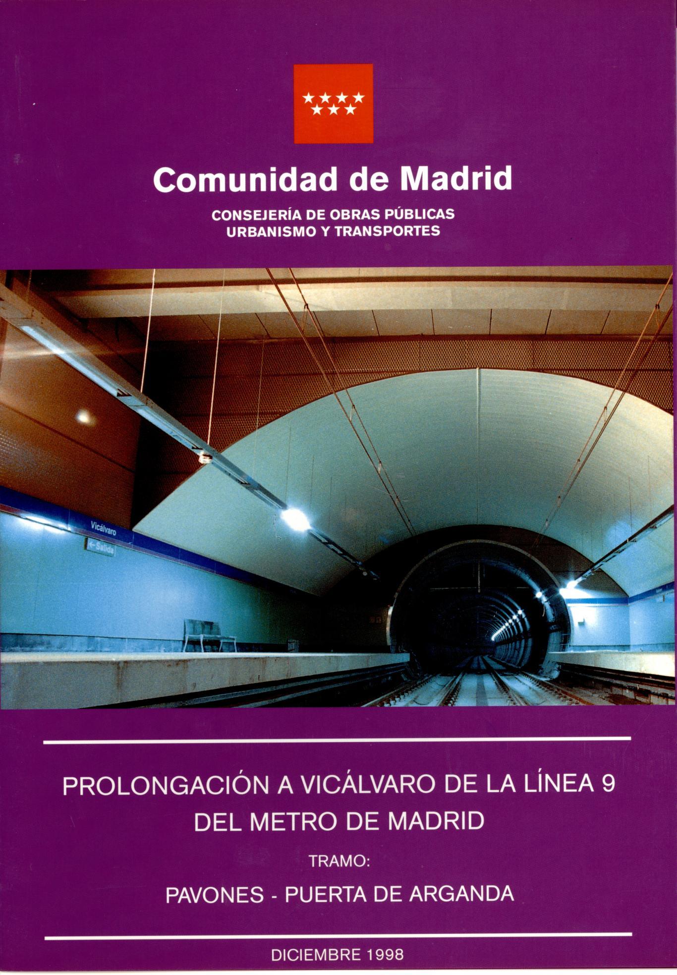 Carátula folleto L9 Pavones-Puerta de Arganda