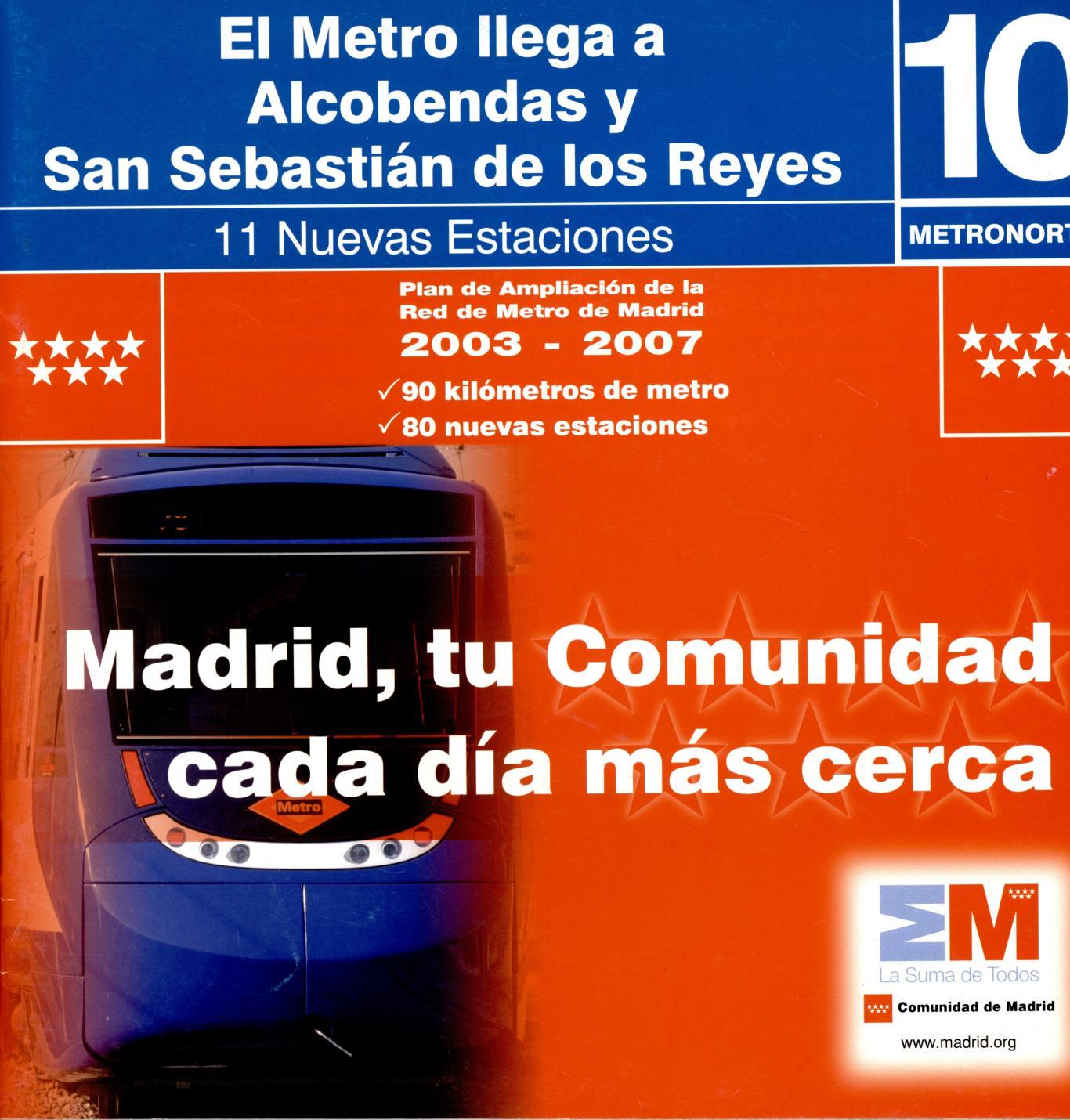 Carátula el metro llega a Alcobendas