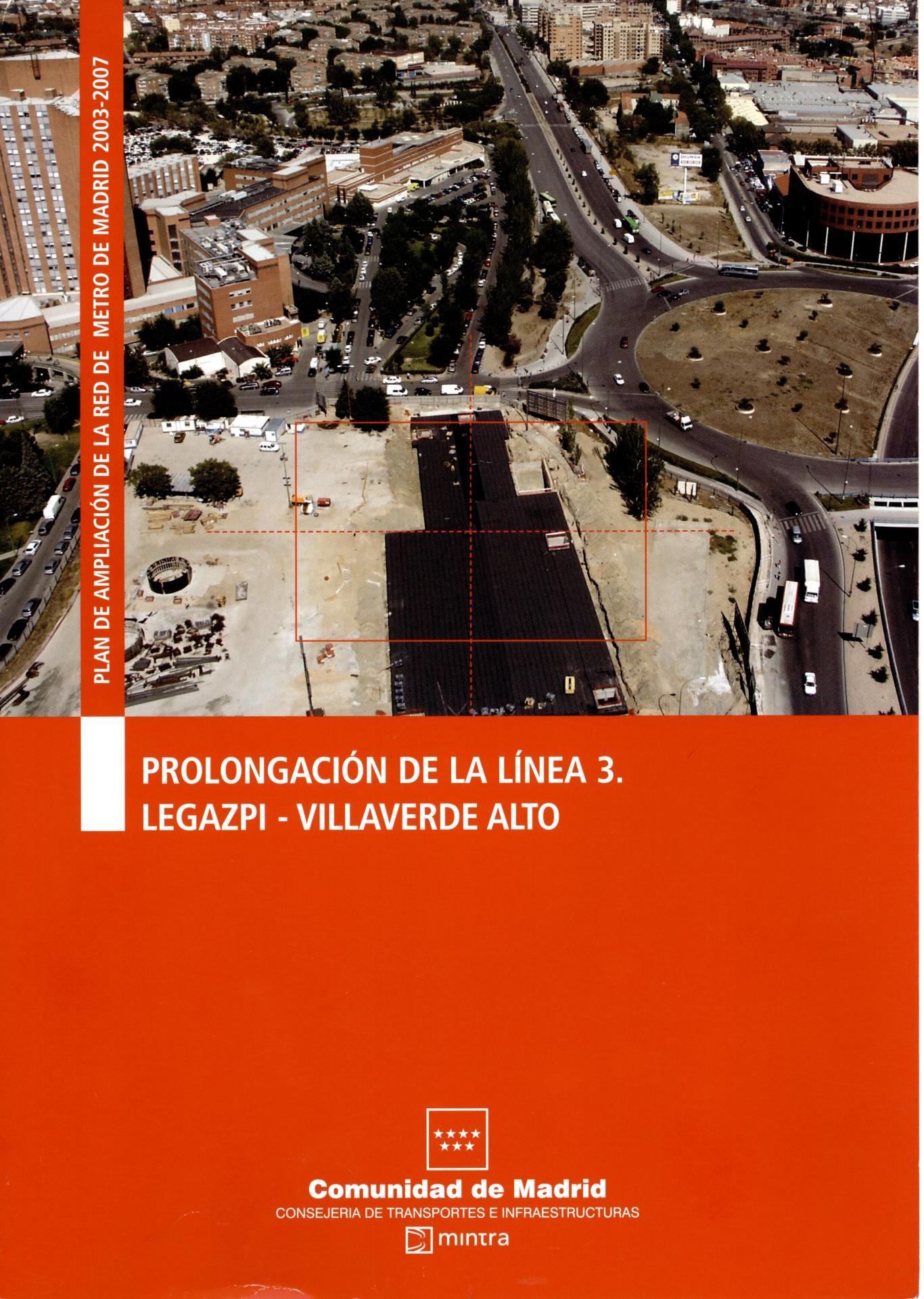 caratula folleto línea 3 Legazpi-Villaverde Alto