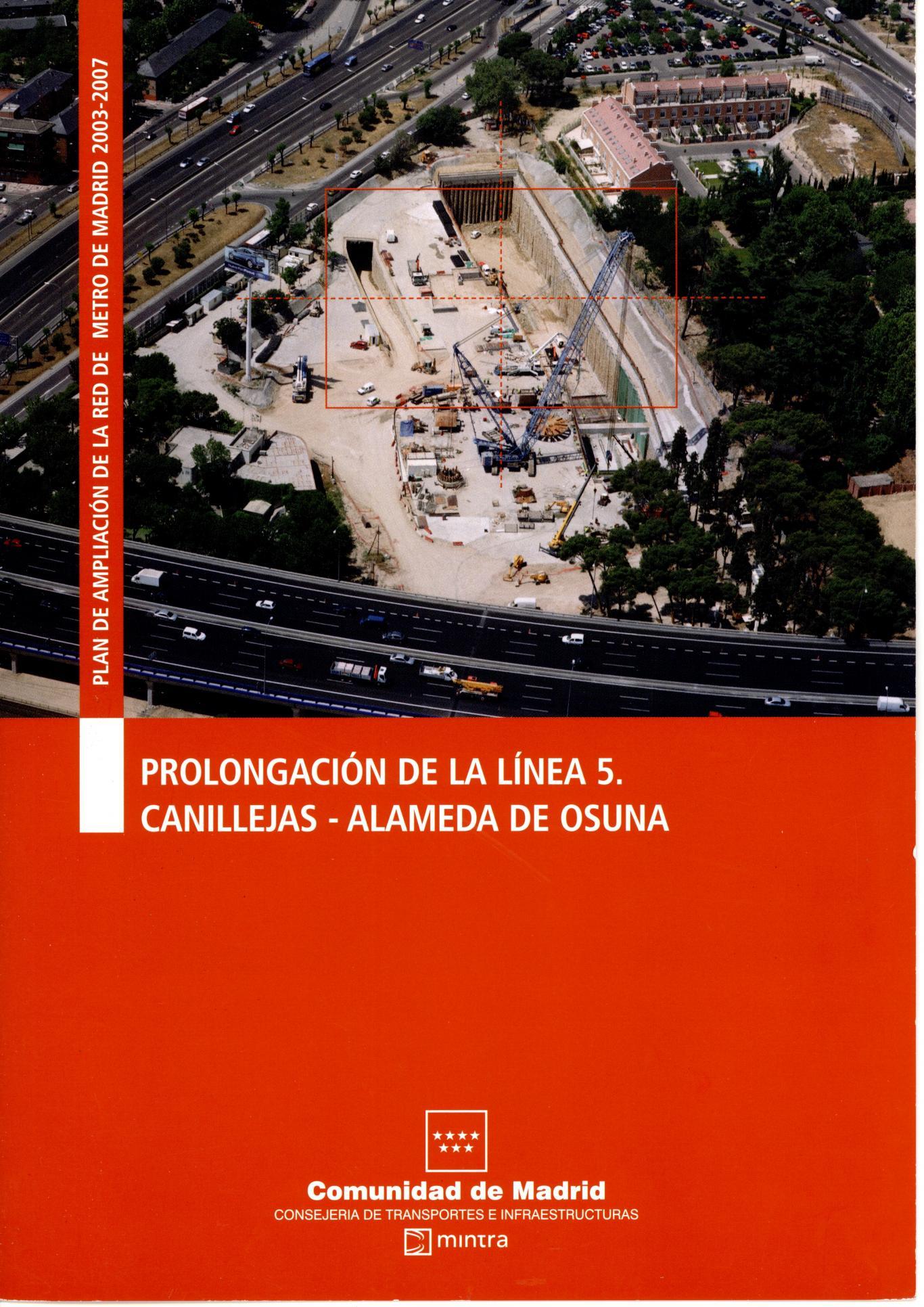 Carátula folleto L5 Canillejas-Alameda Osuna