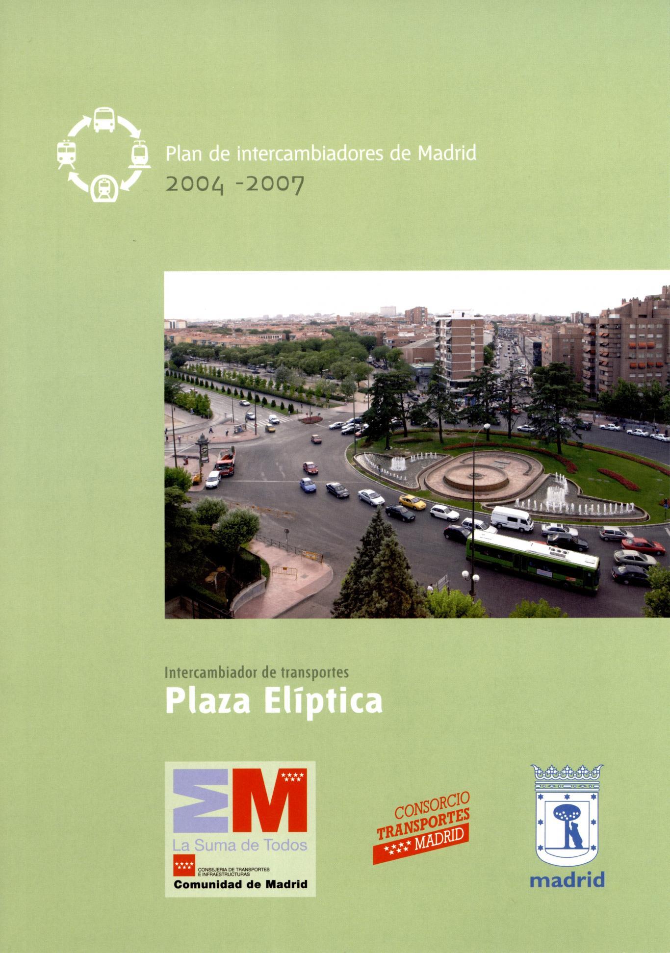 Portada folleto intercambiador Plaza Elíptica