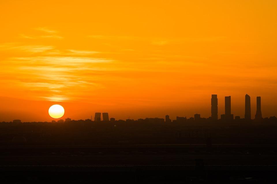 El crepúsculo en Madrid