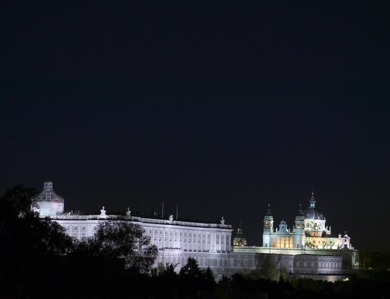 Noche en el Palacio Real de Madrid