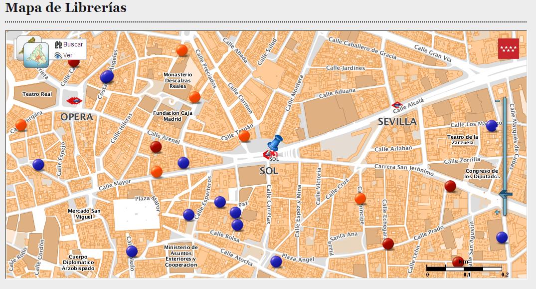 Mapa de Librerías