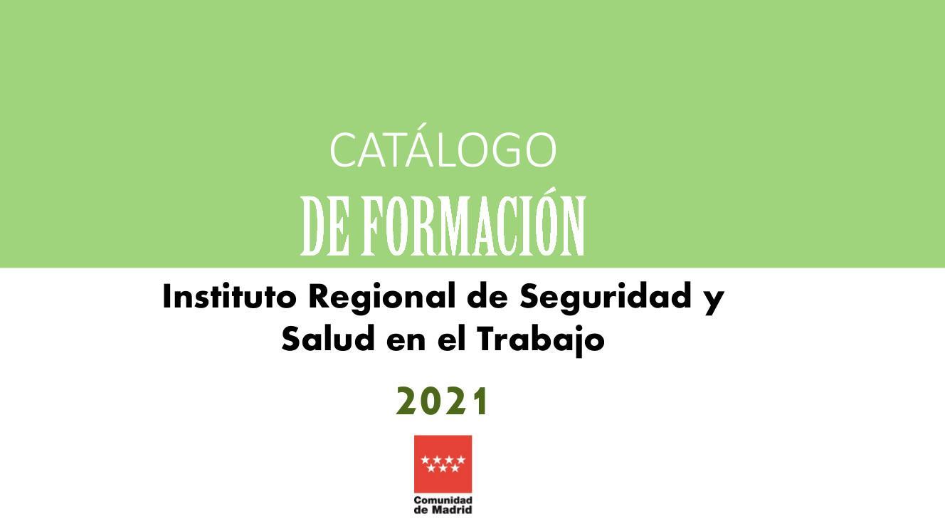 Portada Catálogo de formación 2021