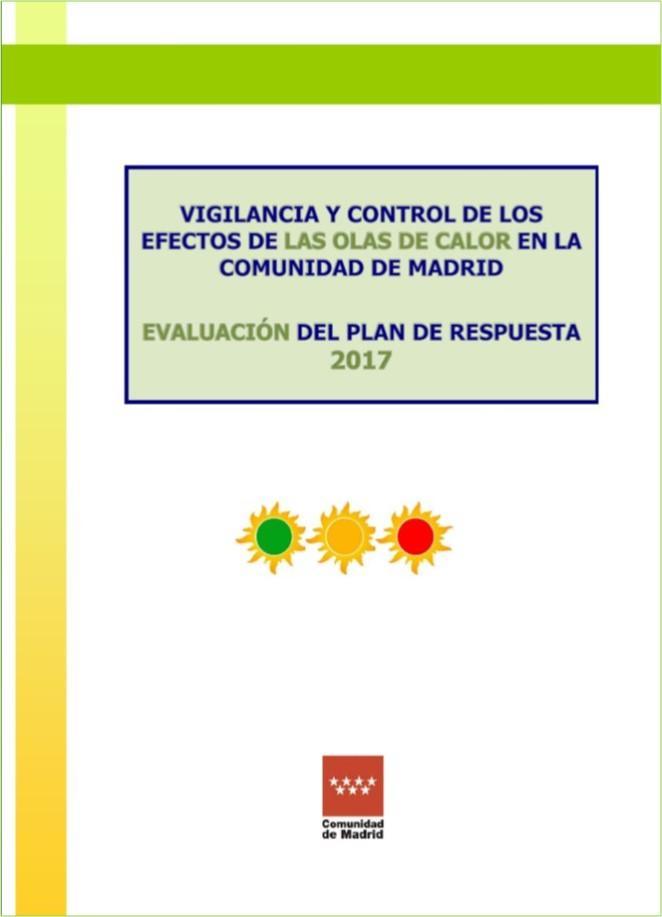Imagen de la portada de la Evaluación de Plan de Vigilancia y control de los efectos de las olas de calor 2017