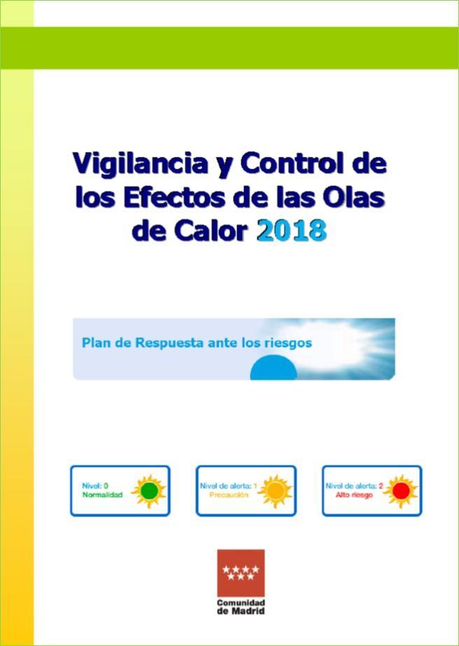 Imagen de la portada del Plan de Vigilancia y control de los efectos de las olas de calor 2018