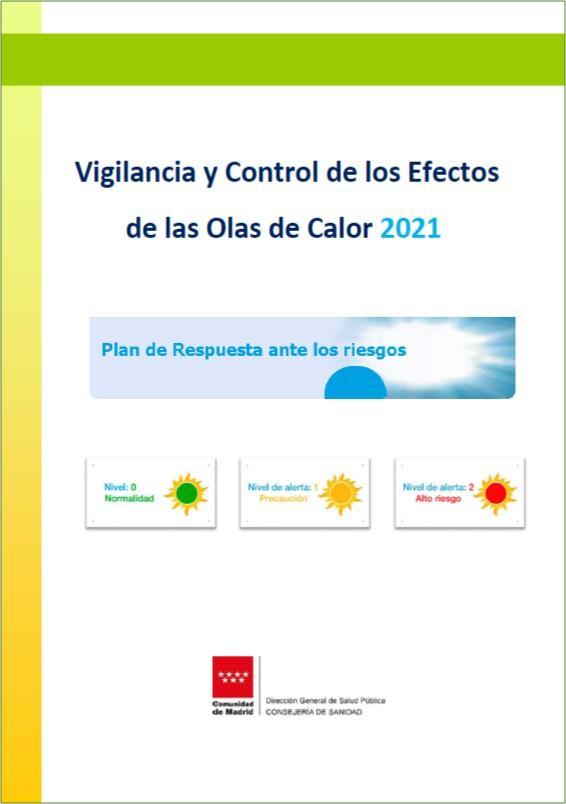 Portada del Plan de Vigilancia y control de los efectos de las olas de calor 2021