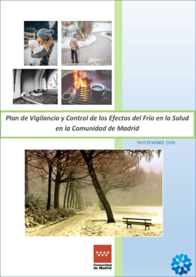 Portada del Plan de Vigilancia y control de los efectos de las olas de frío 2020-2021