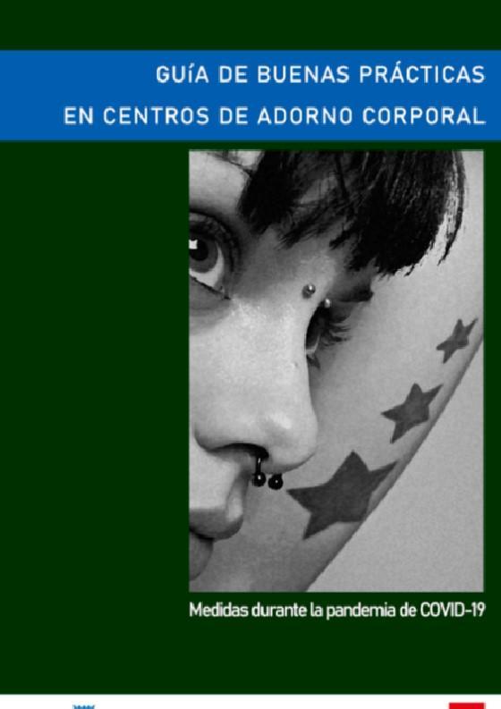 Portada de la publicación Guía de buenas prácticas en centros de adorno corporal COVID-19