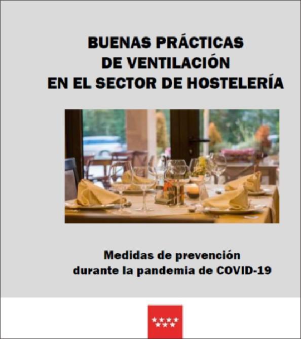 Portada de la publicación Buenas prácticas de ventilación en el sector de la hostelería - Díptico