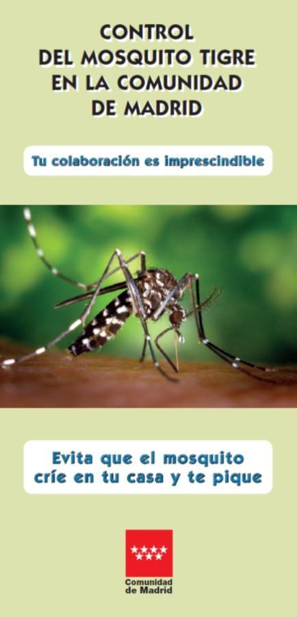 Portada de la publicación Control del mosquito tigre en la Comunidad de Madrid