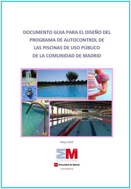 Imagen de la portada de la publicación Documento guía para el diseño del programa de autocontrol de piscinas de uso público de la Comunidad de Madrid