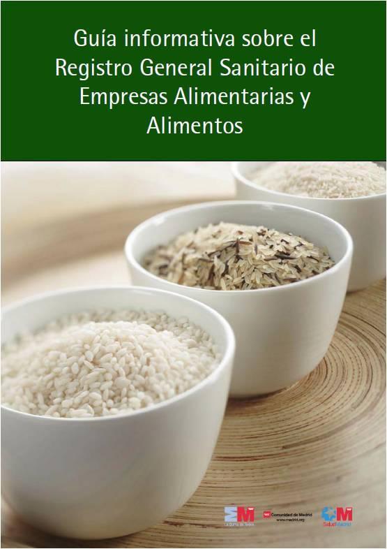 Imagen de la portada de la publicación Guía informativa sobre el Registro General Sanitario de empresas alimentarias y alimentos