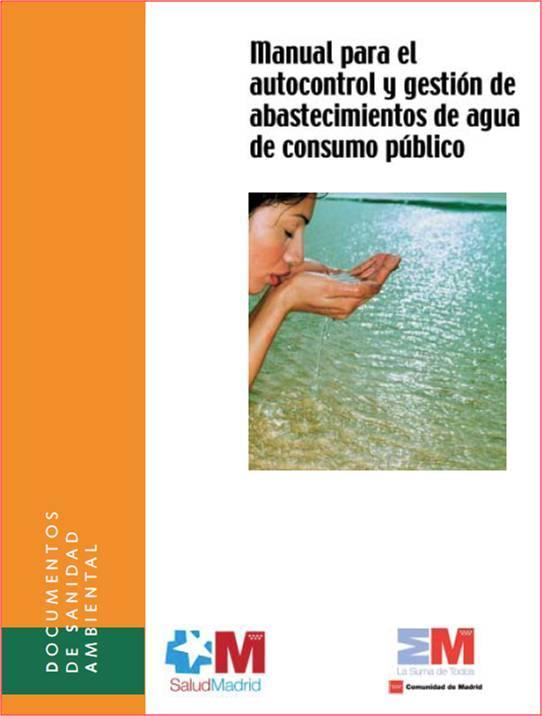 Imagen de la portada de la publicación Manual para autocontrol y gestión de abastecimientos de agua de consumo público
