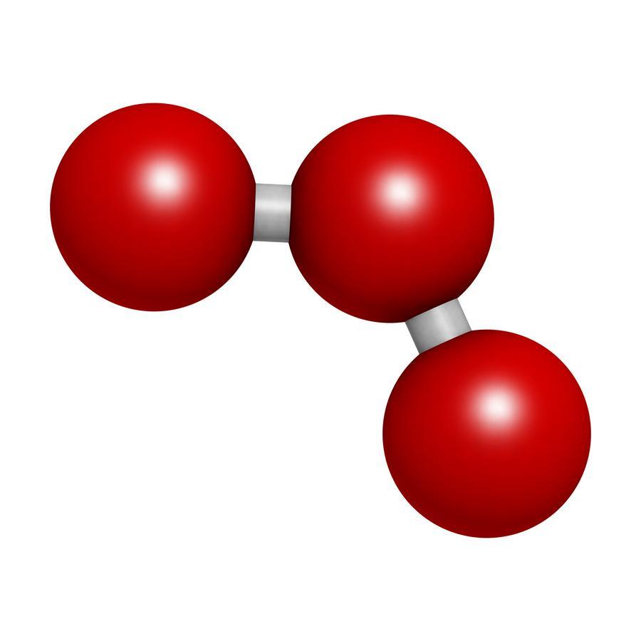 Imagen de la molécula de Ozono (O3)