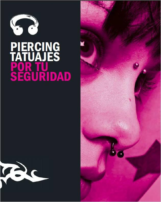 Portada de la publicación Piercing, tatuajes. Por tu seguridad