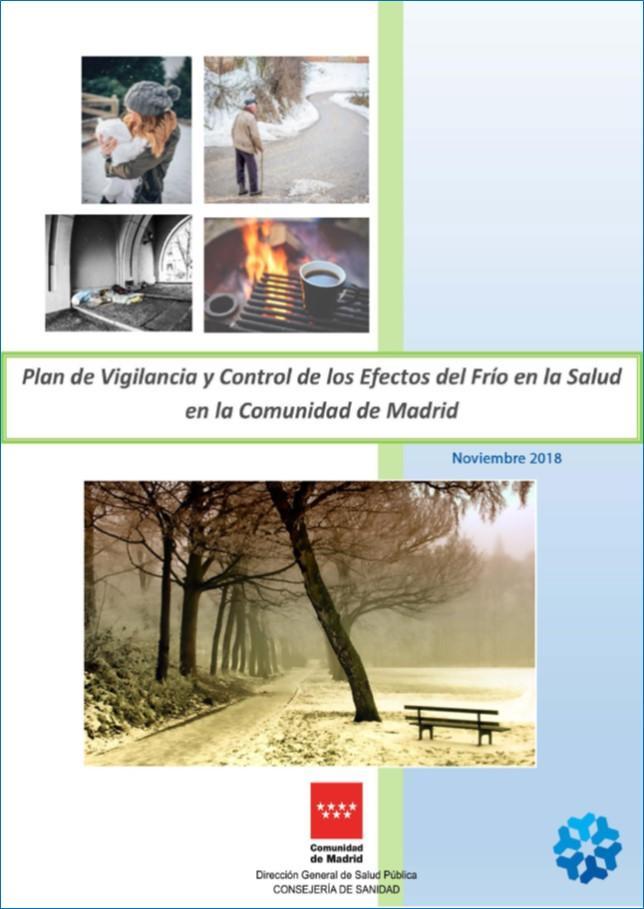 Imagen de la portada de la publicación Plan de Vigilancia y control de los efectos del frío en la salud
