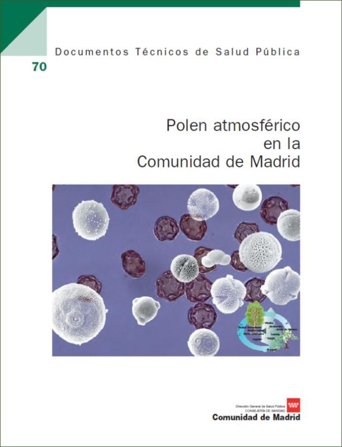 Portada de la publicación Polen atmosférico en la Comunidad de Madrid