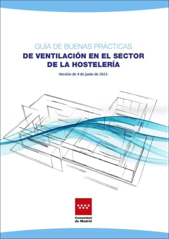 Portada de la publicación Guía de buenas prácticas de ventilación en el sector de la hostelería (2ª edición)
