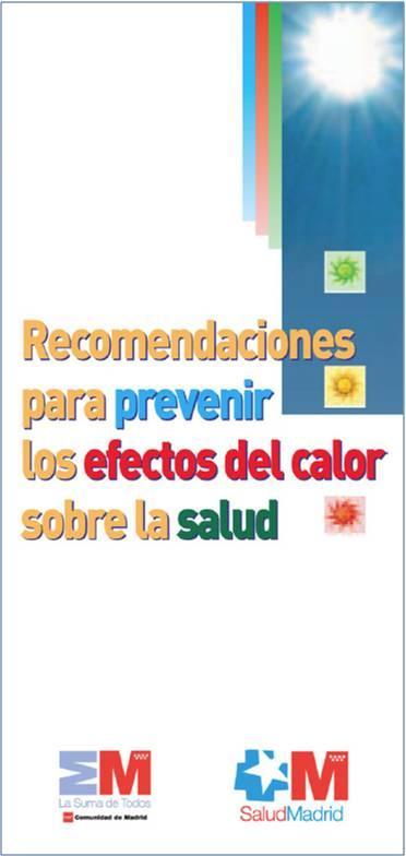 Portada de la publicación Recomendaciones para prevenir los efectos del calor sobre la salud