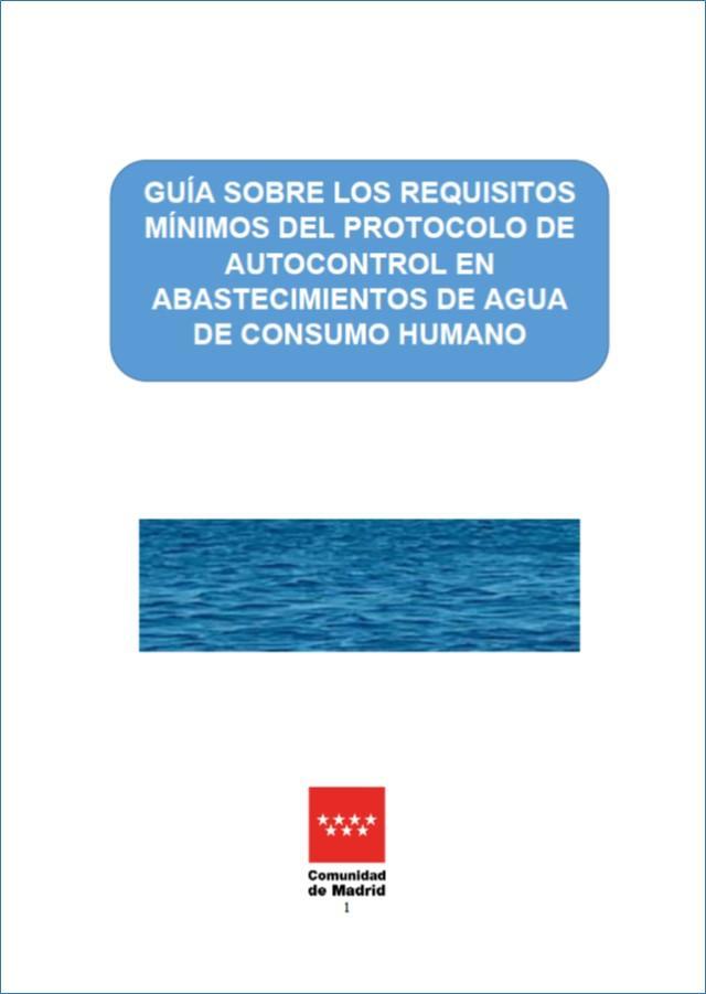 Portada de la publicación Guía sobre los requisitos mínimos del protocolo de autocontrol en abastecimientos de agua de consumo humano