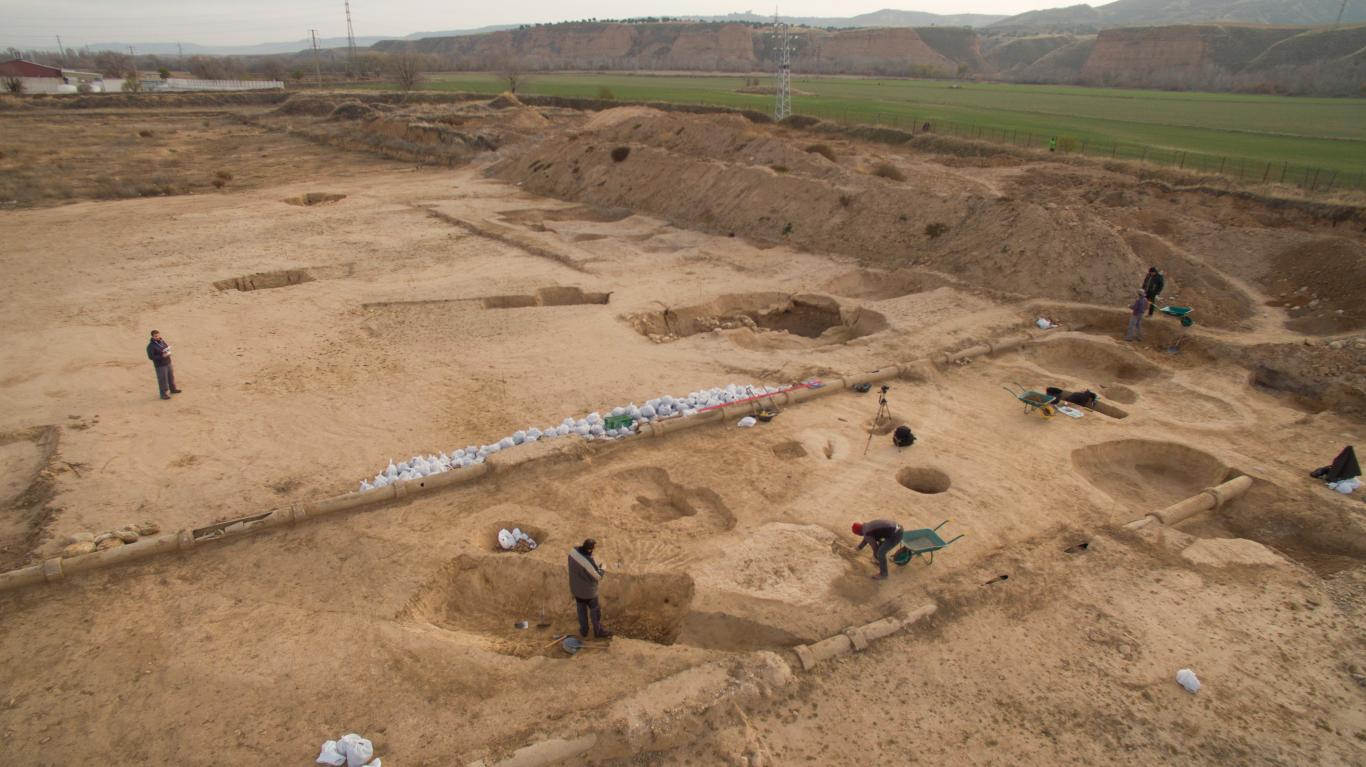 Imagen de vista de las excavaciones del yacimiento arqueológico de la Magdalena