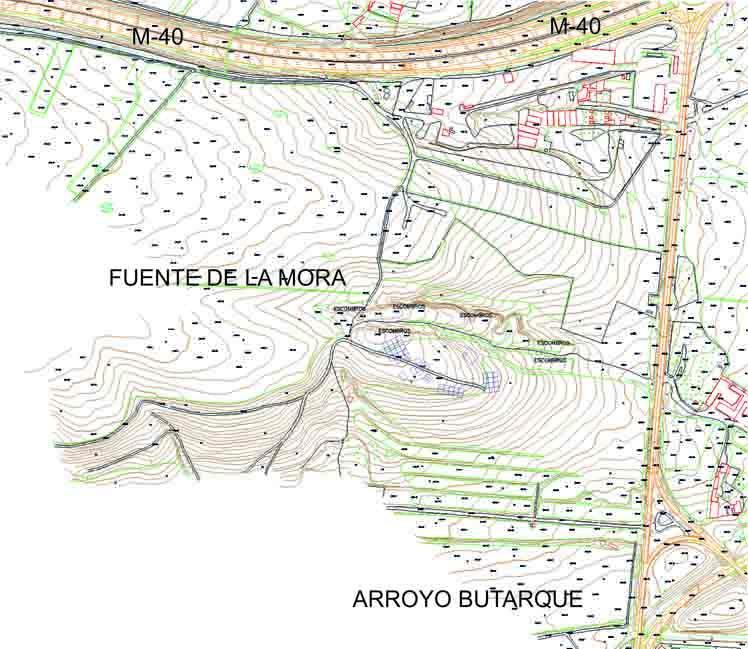 Imagen de la situación del yacimiento de la Fuente de la Mora en Leganés