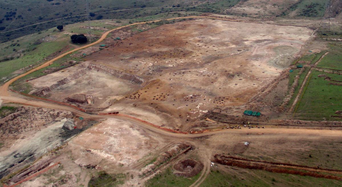 Imagen de vista aérea del yacimiento de Casa Montero
