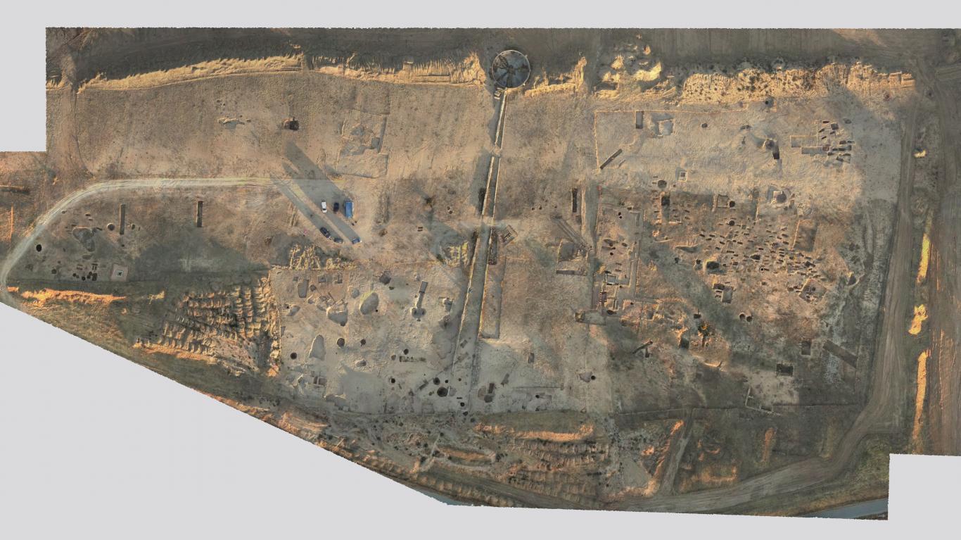 Imagen de vista aérea del yacimiento de La Magdalena