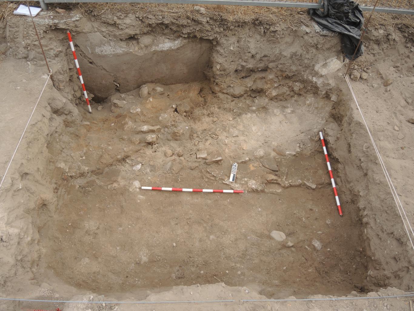 Imagen de la excavación una vez retirados los niveles superficiales