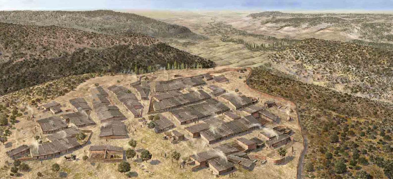 Imagen Recreación del asentamiento carpetano del Llano de la Horca