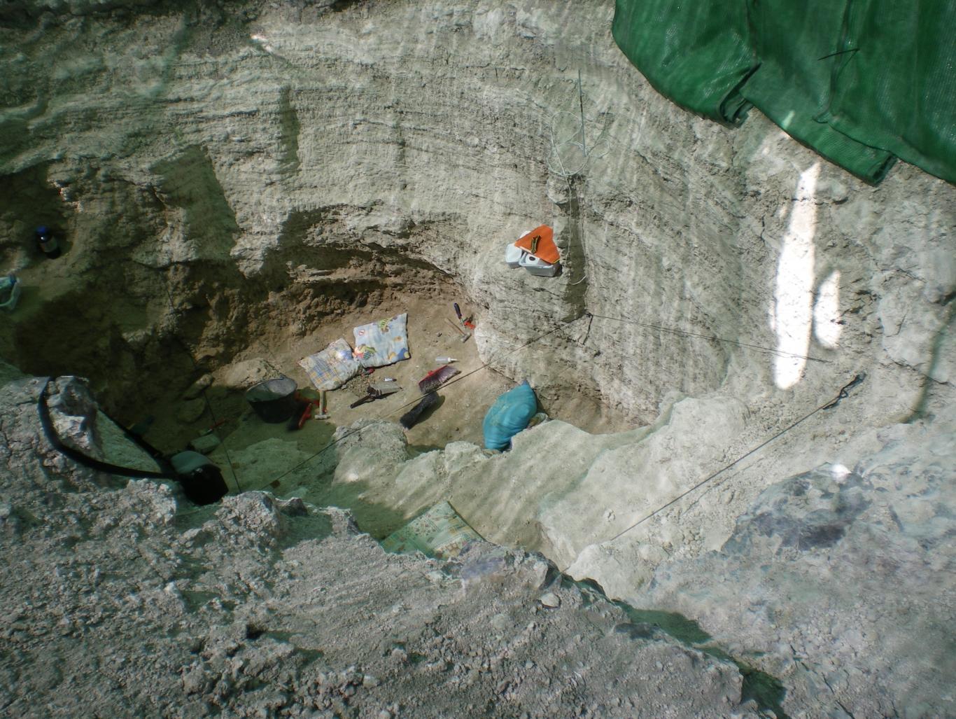 Imagen del Yacimiento Batallones 4 excavación de julio de 2012